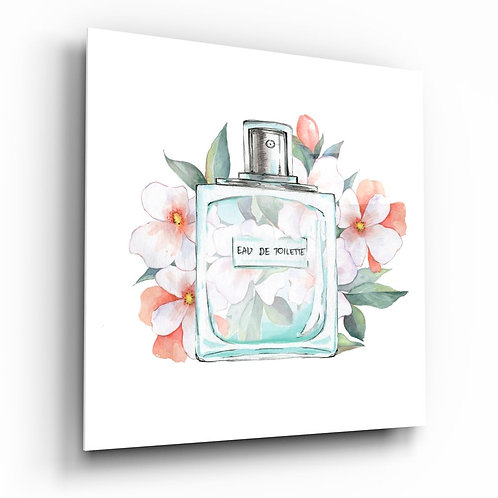 Eau de Toilette UV Printed Glass Printing
