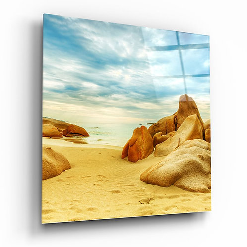 Coast UV Printed Glass Painting