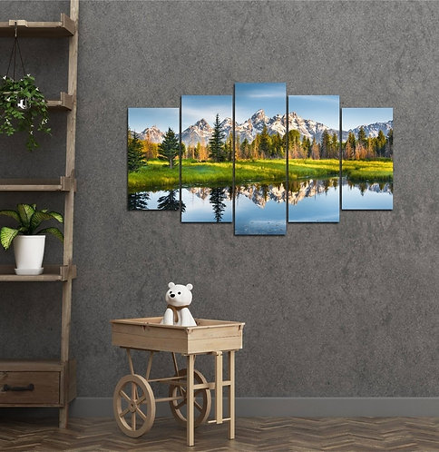 Lake 5 Pieces MDF Painting