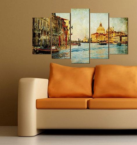 Venice (3) 5 Pieces MDF Painting