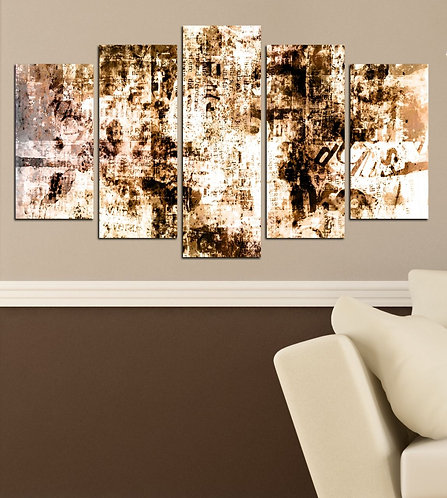 Abstract (20) 5 Pieces MDF Painting