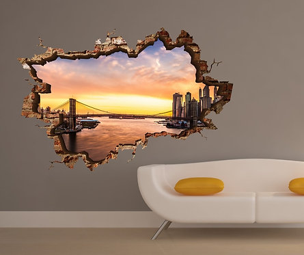 Newyork 3D Wall Sticker