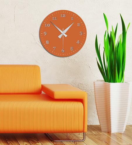 Orange MDF Clock