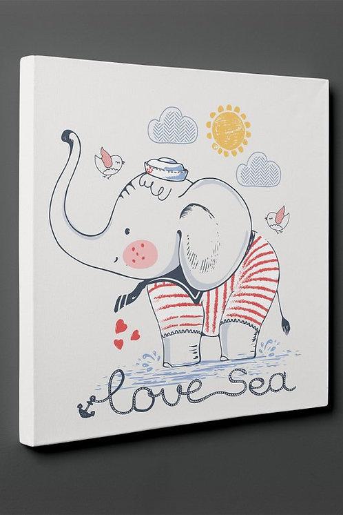 Sea Of ??Love (Elephant) Canvas Printings