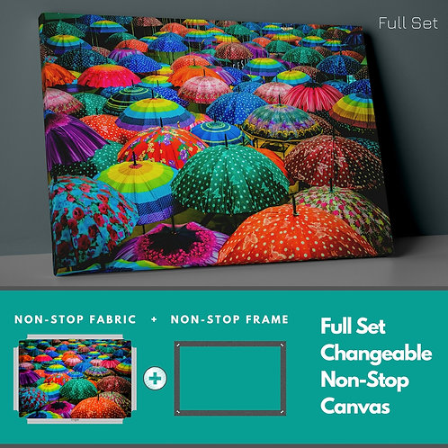 Colorful Umbrellas Non-Stop Canvas Printings