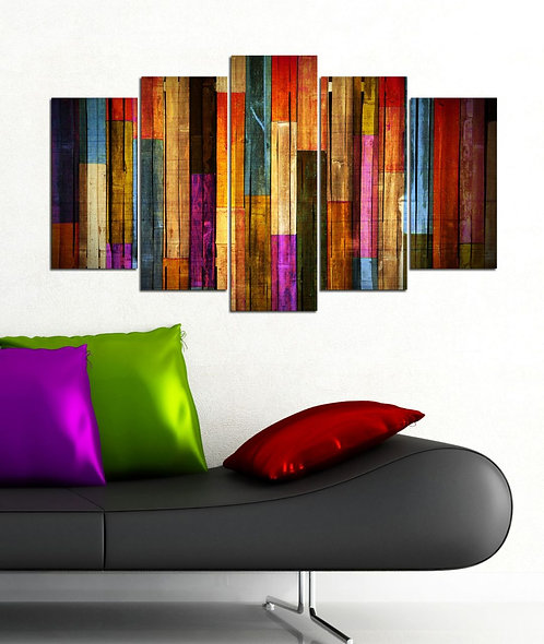 Wood abstract (4) 5 Pieces MDF Painting