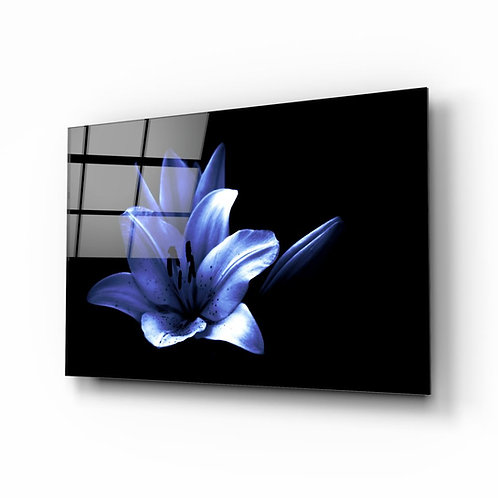 Purple Flower UV Printed Glass Printing