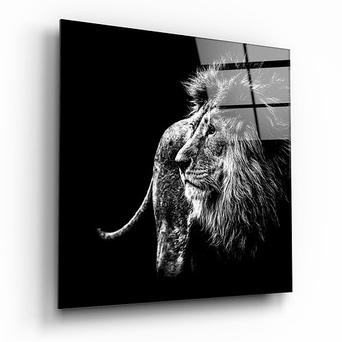 Lion UV Printed Glass Painting