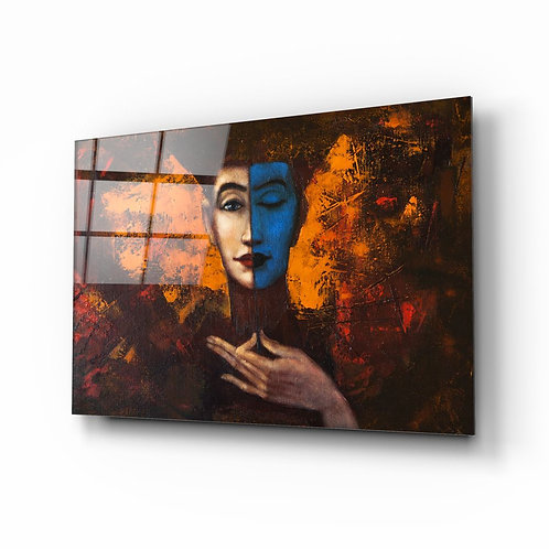 Abstract Woman Portrait UV Printed Glass Printing