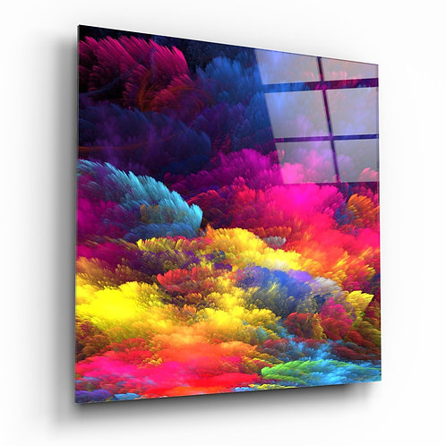 Color Explosion Glass Table