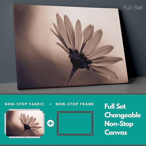 Retro White Flower Non-Stop Canvas Printings