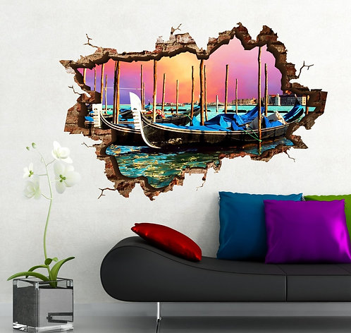 Venice 3D Wall Sticker