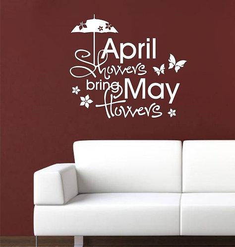 April Showers Wall Sticker