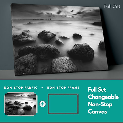 Smoky Rocks Non-Stop Canvas Printings