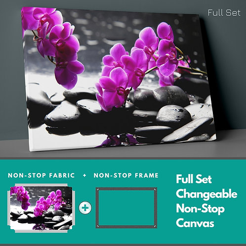 Purple Orchids Non-Stop Canvas Printings