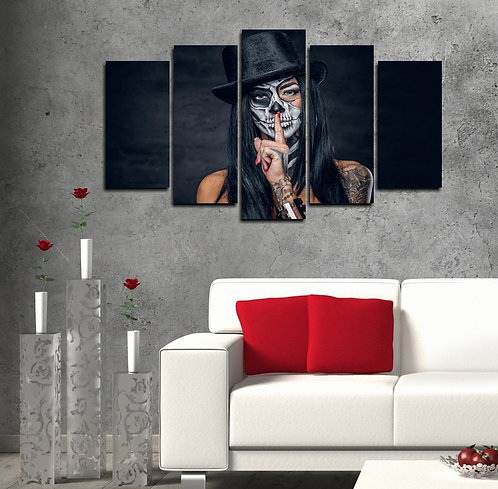 Silence 5 Pieces MDF Painting