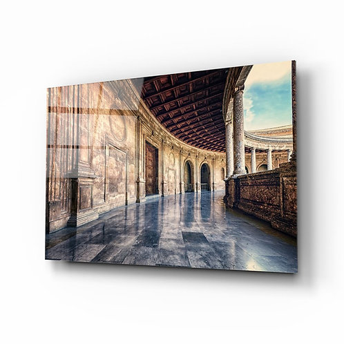 Baroque Building Glass Painting
