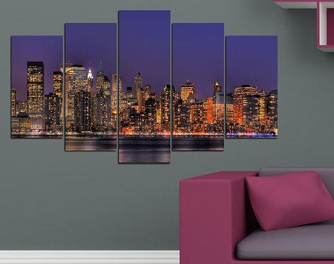Cosmopolitan 5 Pieces MDF Painting