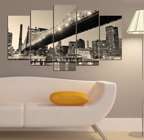 Brooklyn Bridge (5) 5 Pieces MDF Painting