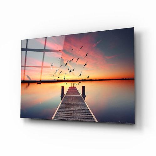 Dock UV Printed Glass Painting