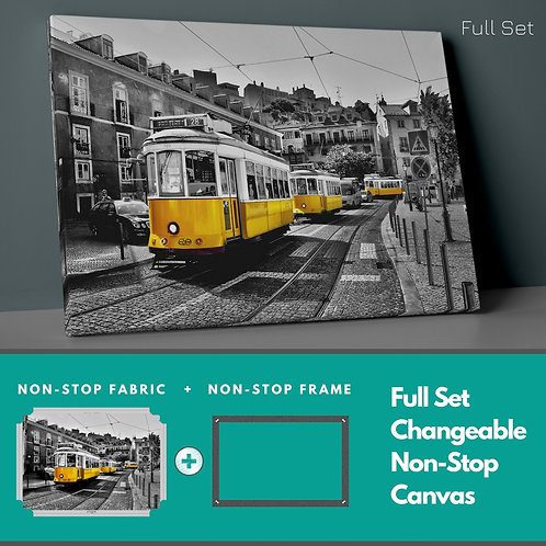 Yellow Tram Non-Stop Canvas Printings