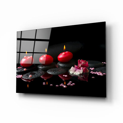 Spa UV Printed Glass Painting