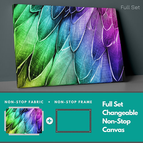 Colored Feathers Non-Stop Canvas Printings