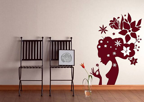Flower Girl Wall Sticker