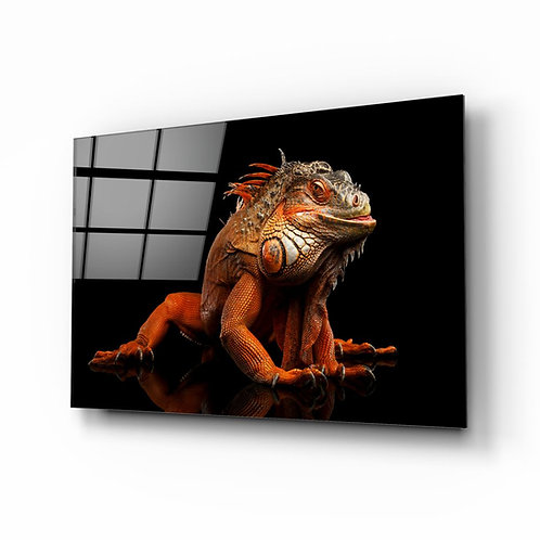 Komodo Dragon UV Printed Glass Printing