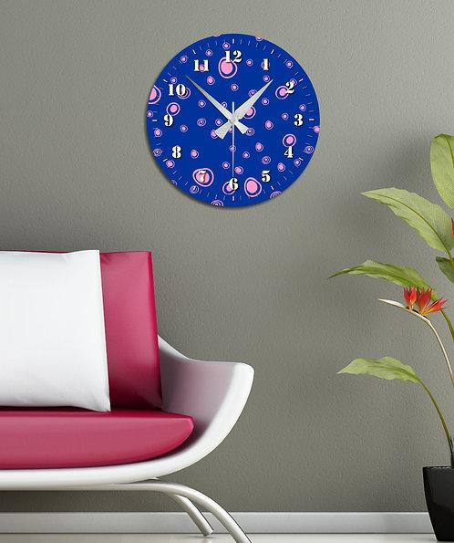 circles MDF Clock