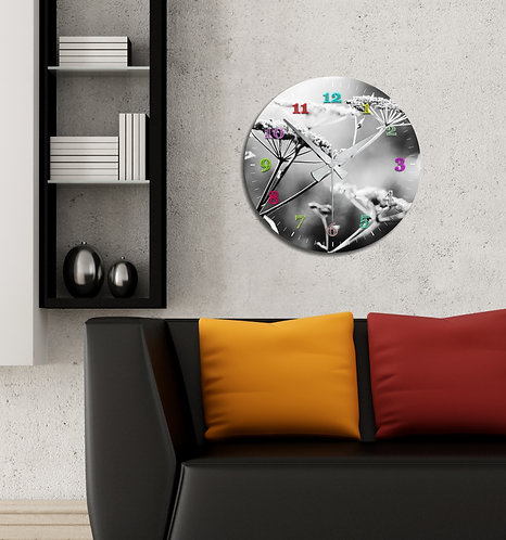 monochrome MDF Clock