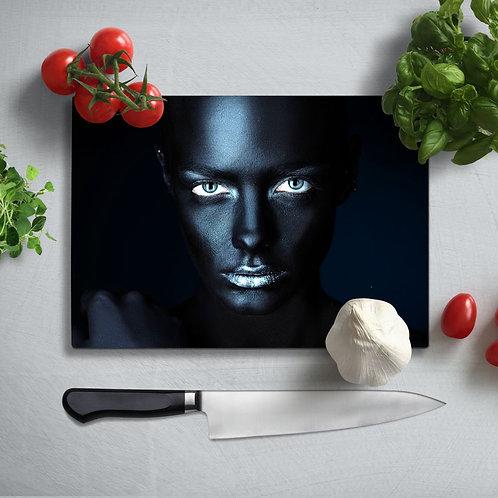 Women's Portrait UV Printed Glass Chopping Board 35x25cm