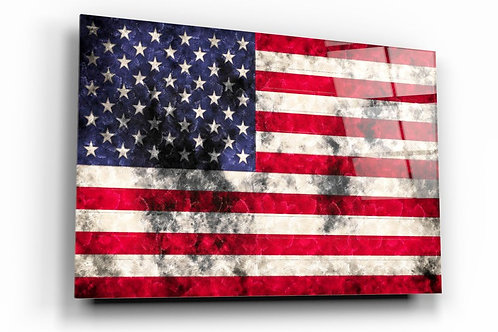 American Flag UV Printed Glass Printing