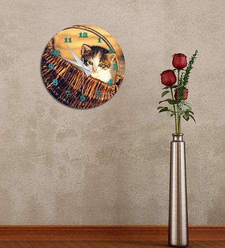 Kitty MDF Clock
