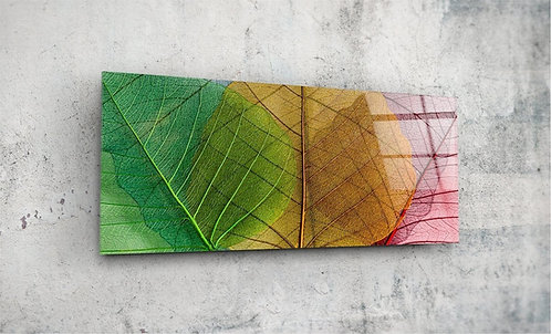 Leaves  UV Glass Painting