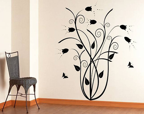 Floral Tulip Wall Sticker
