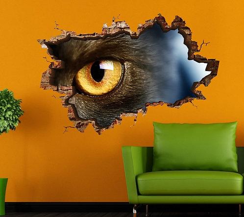 Cat Eye 3D Wall Sticker