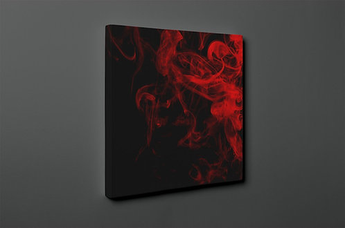 Red Smoke Canvas Printings