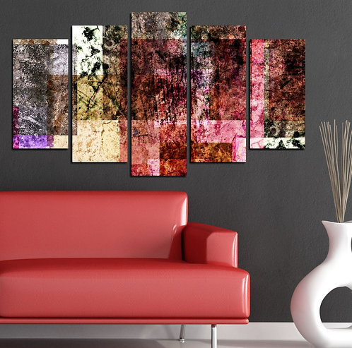 Abstract (19) 5 Pieces MDF Painting