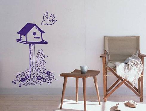 Bird House Wall Sticker