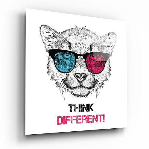 Think Different UV Printed Glass Painting