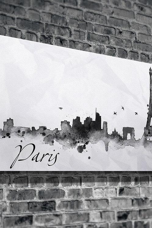 Paris Silhouette  Canvas Printings