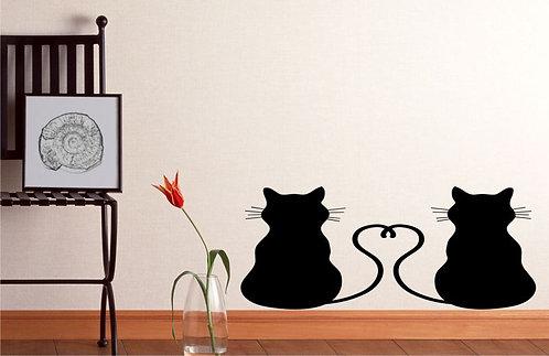 Cats �n Love Wall Sticker