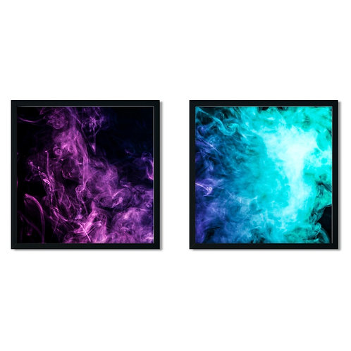 Abstract Colors Framed Painting