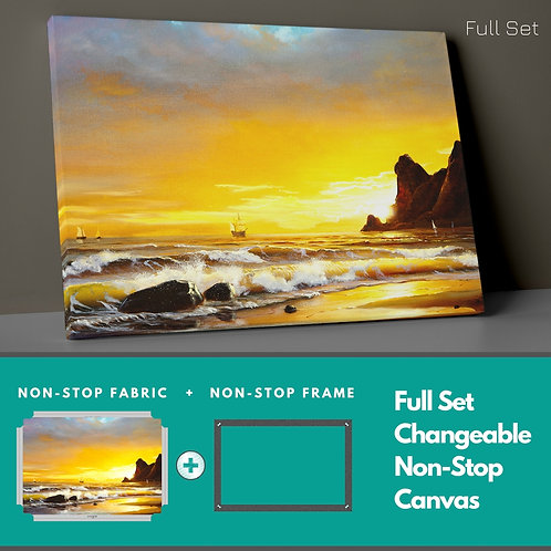 Sunset On The Beach Non-Stop Canvas Printings
