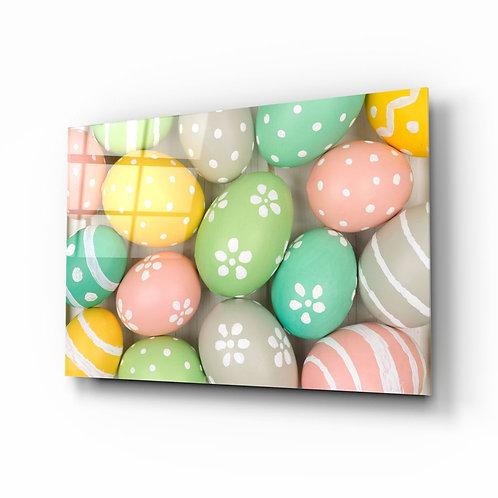 Eggs UV Printed Glass Painting