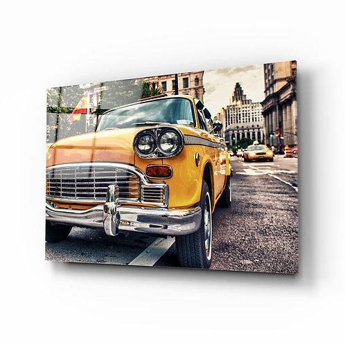 Classic Car UV Printed Glass Painting