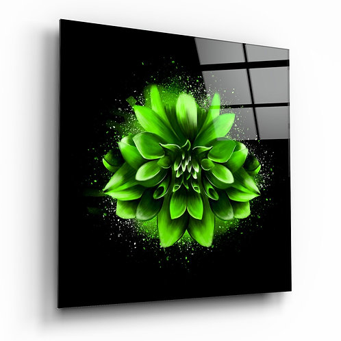 Green Lotus Glass Table