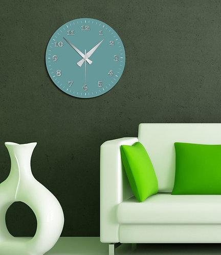 turquoise MDF Clock