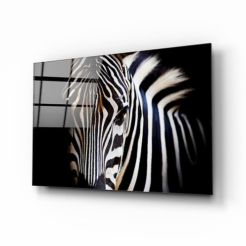 Zebra UV Printed Glass Painting